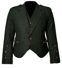 """Trendy Scottish Tweed Argyle Kilt Jacket With Waistcoat/Vest - Sizes 36""""- 54"""
