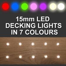 15mm LED Decking/Plinth/Kickboard/Kitchen/Garden Lights - Set of 10 or 20  Kit