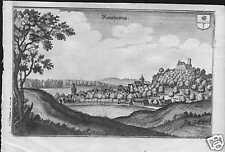 Rauschenberg bei Marburg  Lahn echter alter Merian Kupferstich 1645