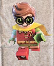 THE LEGO BATMAN MOVIE Robin childs SHIRT Will Arnett Michael Cera DC Comics