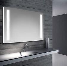 Specchio da bagno retroilluimnato a led con doppia strip 100x70 cm reversibile
