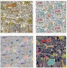 Edinburgh Weavers SAFARI Animaux De La Jungle Tissu pour Tapisserie/Rideaux/