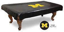 Michigan Pool Table Cover w/ Wolverines Logo - Black Vinyl