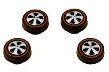 4 Brightvision Redline Wheels – 4 Small US Dull Chrome Bearing Style Wheels