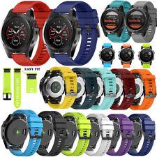 Quick Release Silicone Wrist Band Strap Bracelet Fr Garmin Fenix 3/5 5X 5S Watch