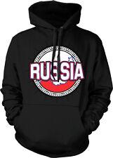 Russia Flag Map Outline ?????? Rossiya Futbólu Hockey Soccer Hoodie Pullover