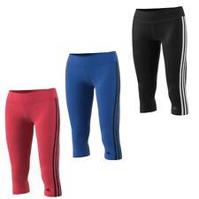 adidas D2M 3S Damen 3/4 Fitness Sporthose Fitnesshose Hose Tight