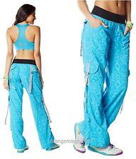 ZUMBA Cargo Pants -Converts to Capris -Essential Bangin' Blue- EliteZWear Rare M