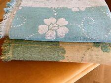 Floral Throw Cover Cheniile Armchair/Sofa Summery Look Turquοise, Green