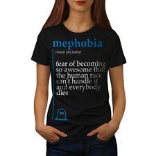Mephobia Awesome Funny Women T-shirt S-2XL NEW   Wellcoda