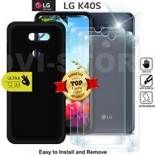 CUSTODIA per LG K40S Cover tpu per LG k40s NERO Matte Pellicola VETRO Temperato