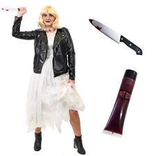 ADULTS KILLER DOLL BRIDE COSTUME LADIES HALLOWEEN 1980S HORROR FANCY DRESS