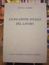 (DIRITTO) PALERMO: LEGISLAZIONE SOCIALE DEL LAVORO