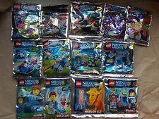 Nuevo LEGO Lámina Pack nexo Chima Mini Set bolsa de plástico. sin MINIFIGURAS elegir 1 U Want