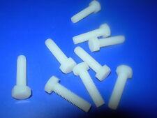 Paquetes De 10 M2, M2,5, M3, M3.5, M4, M5, M6, M8 Nylon (plástico) cabeza hexagonal Tornillos (Tornillos)