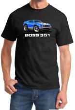 1971 Ford Boss 351 Mustang Full Color Cartoon Tshirt NEW FREE SHIPPING