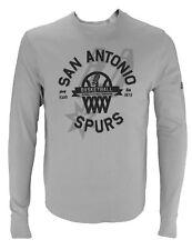 Adidas NBA Basketball Men's San Antonio Spurs Long Sleeve Thermal Shirt, Grey