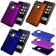 Nouvelle Serie Housse Etui Coque Chrome Alu Argent iPhone 3Gs 3G Film Protection