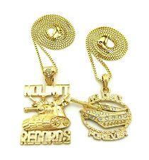 """Hip Hop No Limit Records Forever Pendant 24"""",30"""" Box Chain 2 Necklace Set RC1971"""