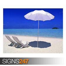 Rihiveli BEACH MALDIVES (3321) Plage Poster-Poster print ART A0 A1 A2 A3 A4
