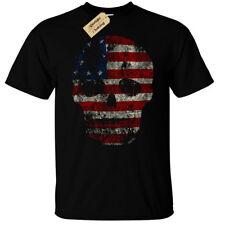 USA FLAG SKULL T-Shirt Mens american grunge distressed