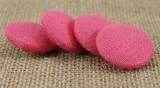Tissu de rayonne rond décoratif couvert 2 trous rose boutons couture Craft