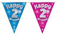 2nd Cumpleaños empavesado Celebración Fiesta Pancartas banderín banderas edad 2 segundo dos año