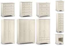 Julian Bowen Cameo Stone White Bedroom Range - Bedside Drawers Wardrobe