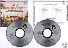 """BACH """"Brandenburg Concertos 1-6"""" (2 CD) Harnoncourt1995"""