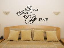 Dream Imagina Believe Dormitorio Salón Comedor ADHESIVO adhesivo pared imagen