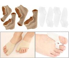 2 Soft Silicone Bunion Splint Straightener + 2 Toe Correct Protector Sleeves S/L