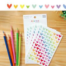 12Sheets Rainbow Heart autocollant Diary Agenda journal Scrapbook Decor Ablums