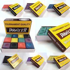 Pool Snooker Billiard Cue Tip Table Chalk Box Genuine Pioneer Choose Colour