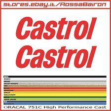 KIT 2 ADESIVI CASTROL mm.220 x 61 - STICKERS AUFKLEBER PEGATINAS DECALS HONDA