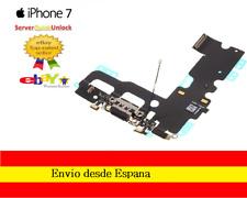 CONECTOR CARGA IPHONE 7 COLOR NEGRO O BLANCO JACK AURICULAR MICROFONO