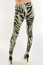New animal print leopard cheetah brown / grey women's legging