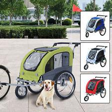 PawHut Hundeanhänger 2 in 1 Anhänger Jogger Hundetransporter Fahrradanhänger