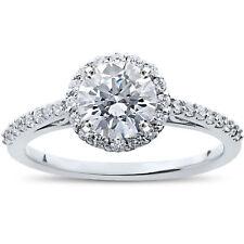 1 1/16 ct Halo Vintage Round Diamond Eco Friendly Lab Grown Engagement Ring 14k