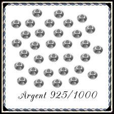 Réf 5 mm EN ARGENT MASSIF 925 * LOT DE 10 PERLES DIAMANTÉES PLDIAM5