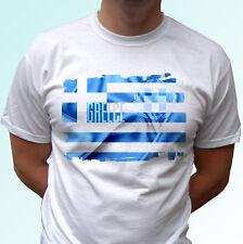 Diseño de la bandera de Grecia Blanco camiseta Top Camiseta Moderno-Para Hombre Mujer Niños Bebé Tamaños