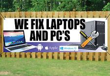 Reparación De Computadoras Banner arreglamos computadoras portátiles y PCs al aire libre firmar Pvc + Ojales