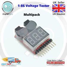 1-8S Battery Voltage Tester & Low Voltage Buzzer Alarm