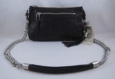Olivia Harris Zip Pocket Chain Clutch Black
