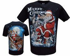 Homme Femmes Unisexe Mignon Santa Christmas Noël Renne T-shirts S-XXL