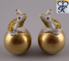 Kämmer Porzellan Streuer Frosch auf goldener Kugel gelb H8,5cm 9944072
