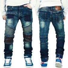 REICHSTADT Jungen Kinder Jeans Biker Style Denim Hochwertig Dope Streetwear 6-16