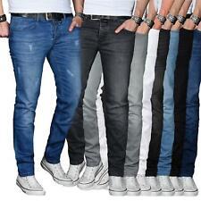 A. Salvarini Designer Herren Jeans Hose Basic Stretch Jeanshose Regular Slim NEU