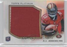 2012 Topps Platinum Rookie Patch #PRP-AJJ AJ Jenkins San Francisco 49ers A.J.