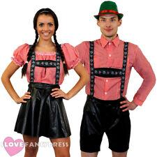 COUPLES DELUXE BAVARIAN FANCY DRESS COSTUMES HIS OR HERS OKTOBERFEST GERMAN BEER