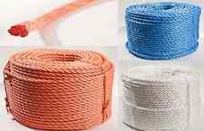 Polypropylen Seil gedreht PP Seil 6-20mm Meterware Allzweck Tau Tauwerk